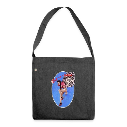 Vintage Rockabilly Butterfly Pin-up Design - Shoulder Bag made from recycled material