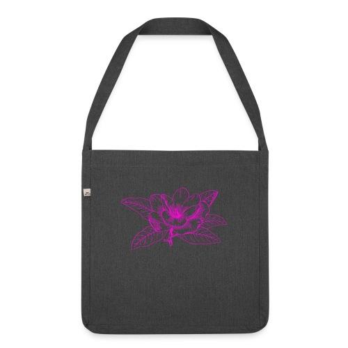 Camisetas y accesorios de flor color rosada - Bandolera de material reciclado
