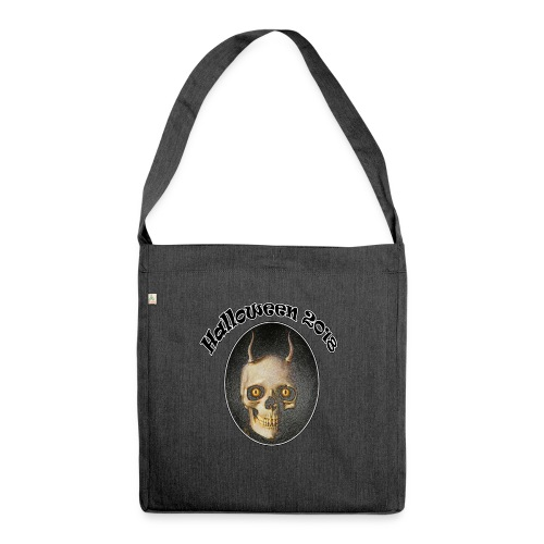 Halloween 2018 Horned Devil Skull - Shoulder Bag made from recycled material
