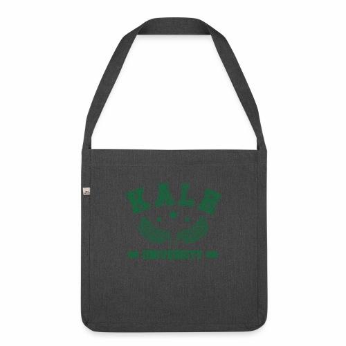 Kale University - Lustige Veganer Geschenkidee - Schultertasche aus Recycling-Material
