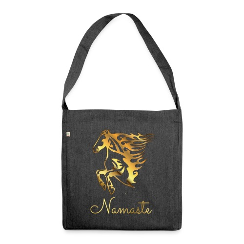 Namaste Horse On Fire - Schultertasche aus Recycling-Material