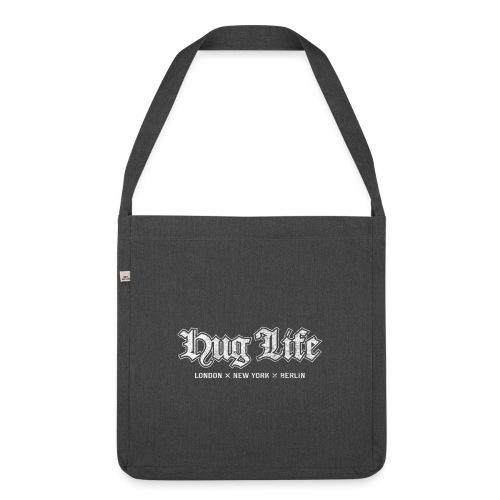 Hug Life Cities – lustige Geschenkidee - Schultertasche aus Recycling-Material
