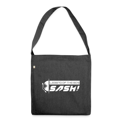 DJ SASH! Turntable Logo - Shoulder Bag made from recycled material