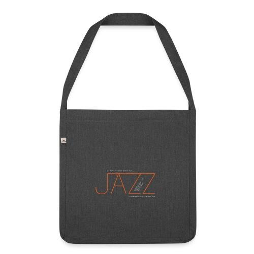 Jazz en La Montaña Rusa Radio Jazz - Bandolera de material reciclado