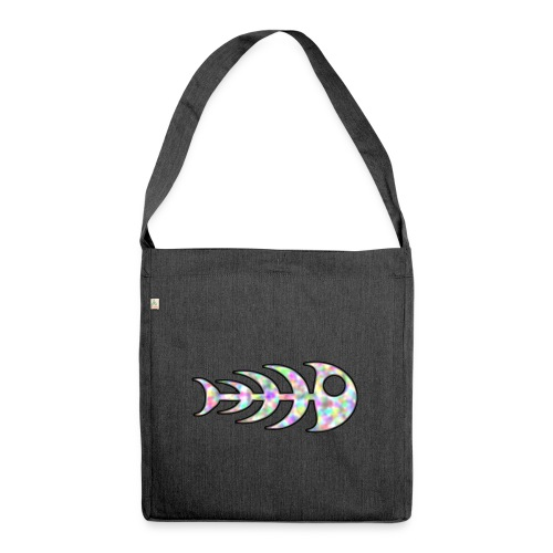 fish legs in rainbow colors - Shoulder Bag made from recycled material