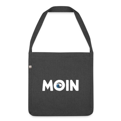 Moin Welle Ahoi Meer maritim Geschenk - Schultertasche aus Recycling-Material