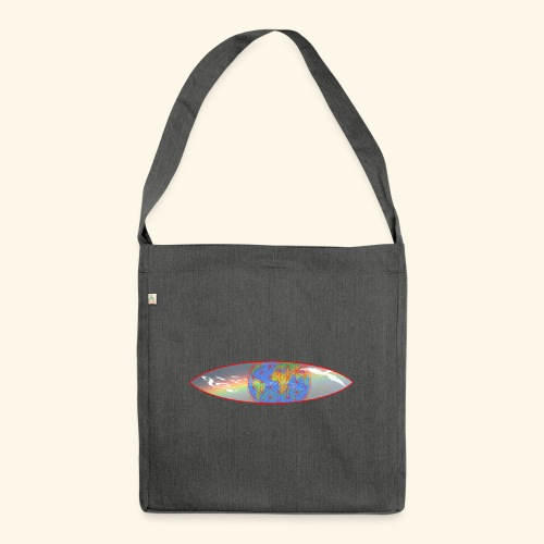 Heal the World - Schultertasche aus Recycling-Material