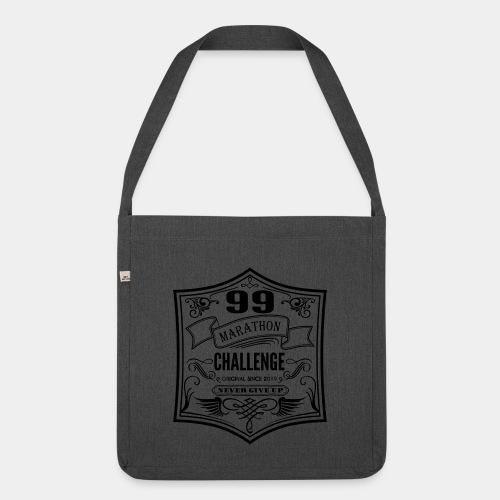 99 marathon challenge - Torba na ramię z materiału recyklingowego