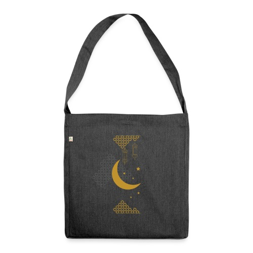 Ramadan Kareem Muslim holy month ilustration - Shoulder Bag made from recycled material