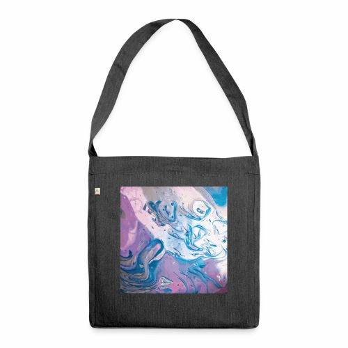 Abstract Space - Schultertasche aus Recycling-Material