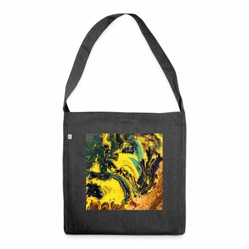 Pouring embers - Schultertasche aus Recycling-Material