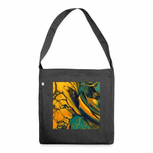 Yellow cells - Schultertasche aus Recycling-Material