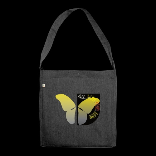 Butterfly high - Schultertasche aus Recycling-Material