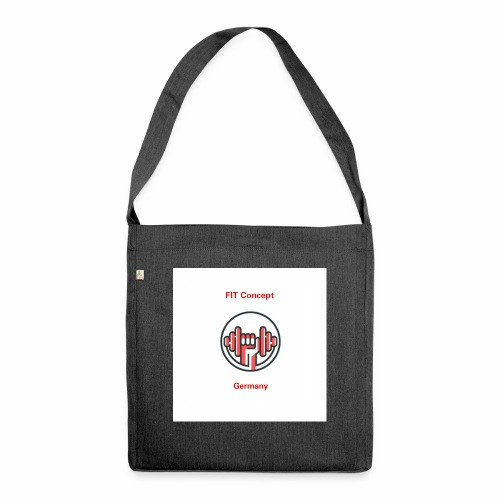 FIT Concept Germany Logo+Beschriftung - Schultertasche aus Recycling-Material