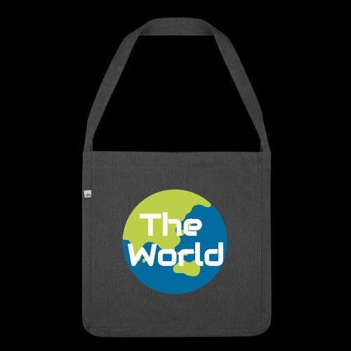 The World Earth - Skuldertaske af recycling-material