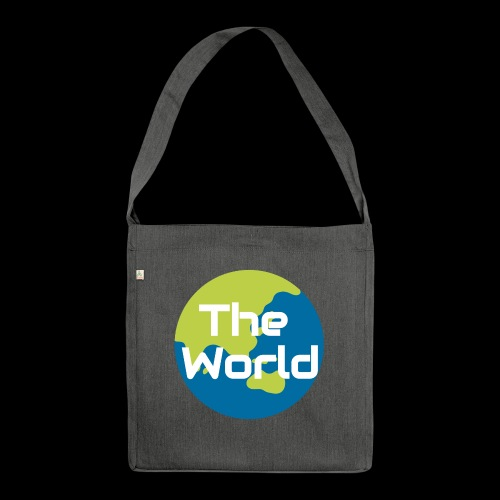 The World Earth - Skuldertaske af recycling-material