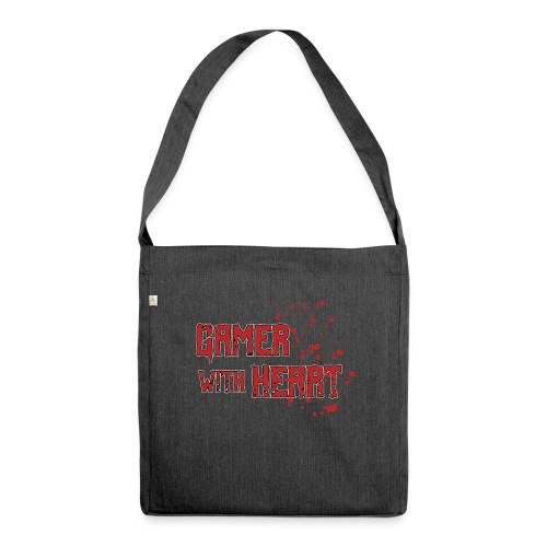 Gamer with heart - Shoulder Bag made from recycled material