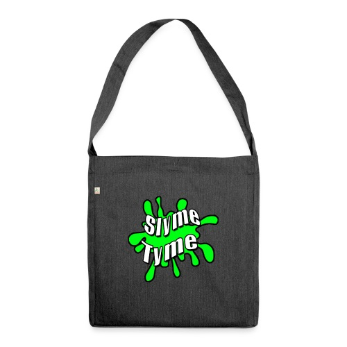 Slyme Tyme Logo / White To Green - Shoulder Bag made from recycled material