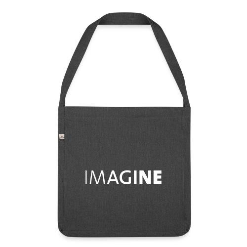 Logo IMAGINE weiß - Schultertasche aus Recycling-Material