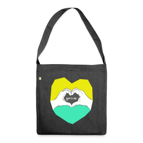 hearthands you & me Poly Herz illustration - Schultertasche aus Recycling-Material