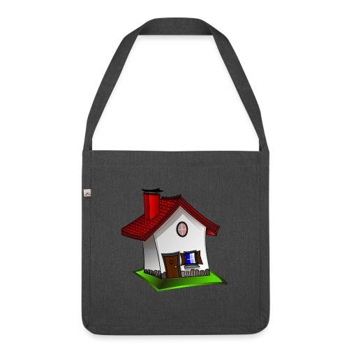 Haus - Schultertasche aus Recycling-Material