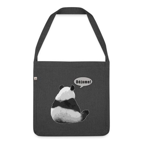 Panda Dejame - Bandolera de material reciclado
