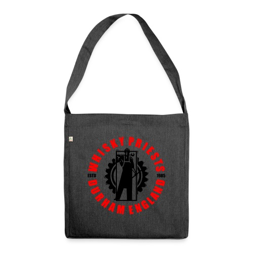 IRON MAN LOGO RED BLACK TRANS - Shoulder Bag made from recycled material