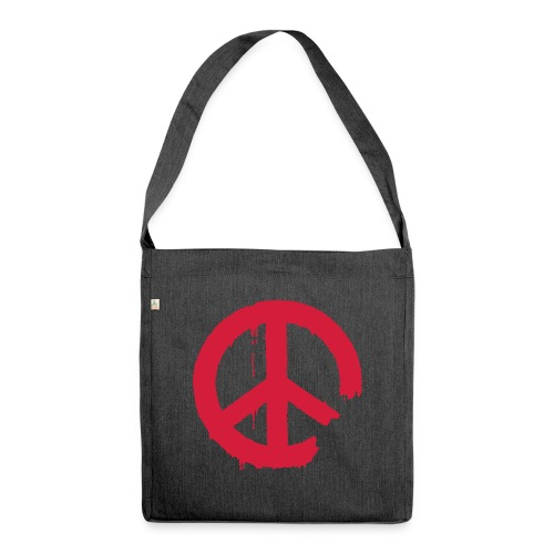 PEACE - Schultertasche aus Recycling-Material