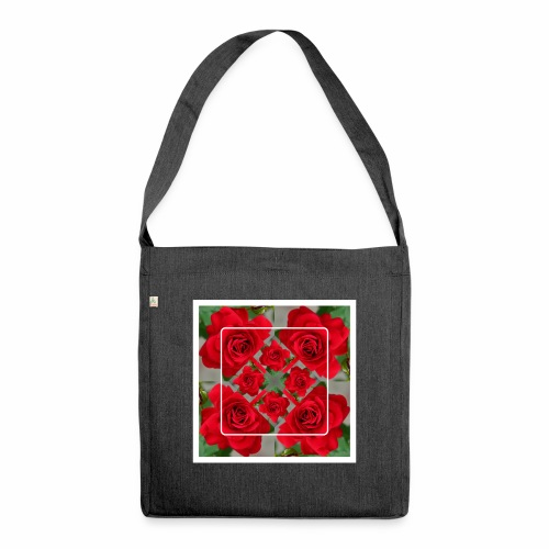 Rose Design - Schultertasche aus Recycling-Material