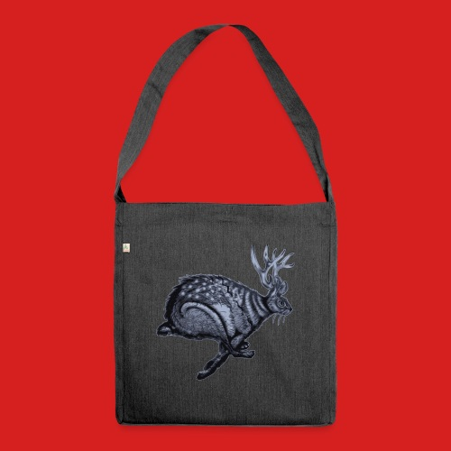 Fabel Hirsch Hase - Schultertasche aus Recycling-Material