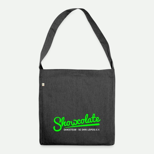 Logo Showcolate + - Schultertasche aus Recycling-Material