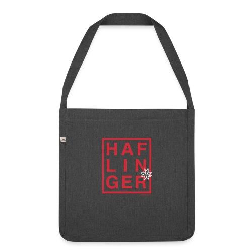 Haflinger Schriftzug / Pferd - Schultertasche aus Recycling-Material