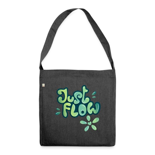 Just flow Liquid Lettering - Schultertasche aus Recycling-Material