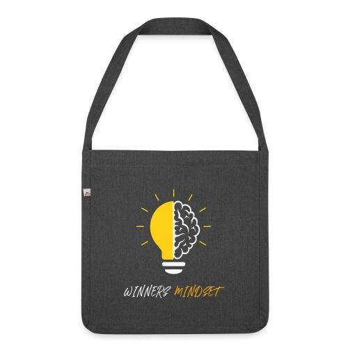 Winners Mindset - Ein Design für Gewinner - Schultertasche aus Recycling-Material