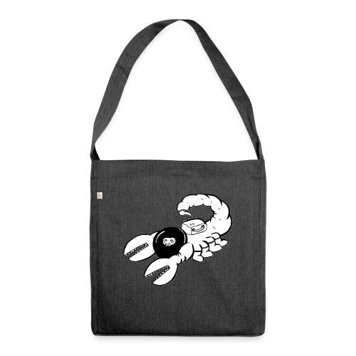 Space Scorpions?! (Black and White) - Shoulder Bag made from recycled material