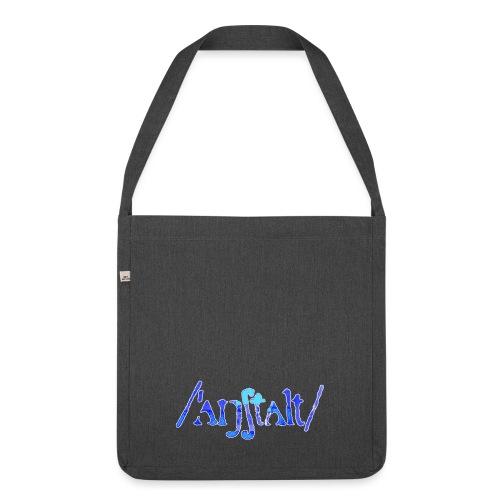 /'angstalt/ logo gerastert (blau/weiss) - Schultertasche aus Recycling-Material
