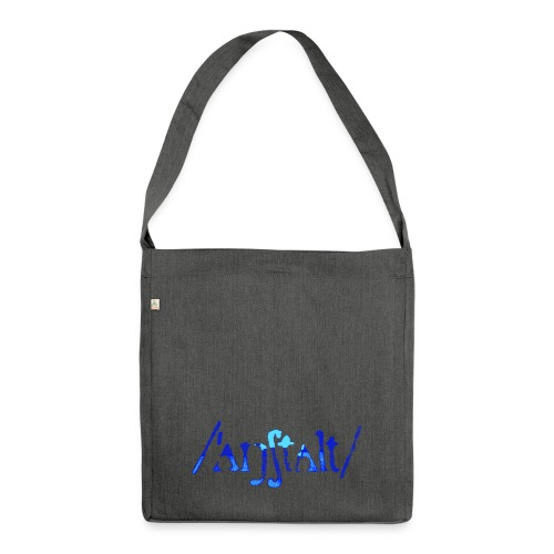 /'angstalt/ logo gerastert (blau/transparent) - Schultertasche aus Recycling-Material
