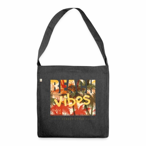 beach vibes street style - Schultertasche aus Recycling-Material