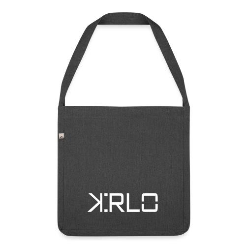 Kirlo Logo Blanco - Bandolera de material reciclado