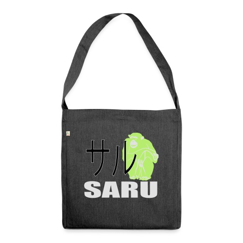 7279459_128361579_SaruAffe_orig - Schultertasche aus Recycling-Material