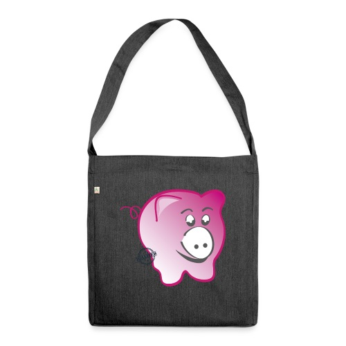 Pig - Symbols of Happiness - Shoulder Bag made from recycled material