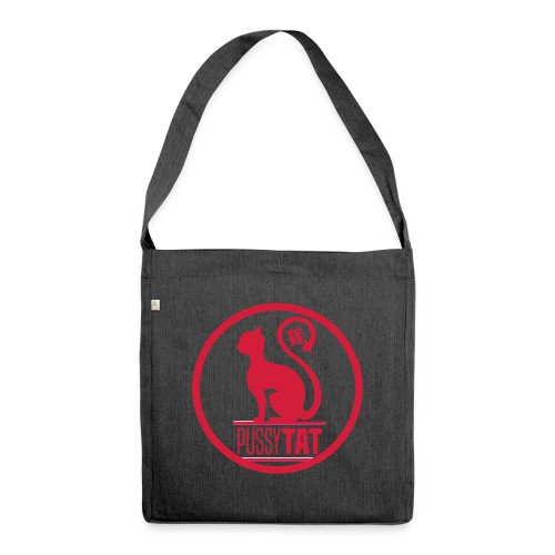 PussyV001 - Schultertasche aus Recycling-Material