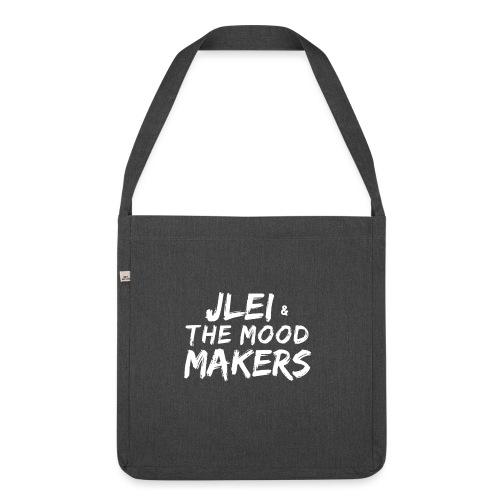 Jlei & The Mood Makers Schriftzug Weiss - Schultertasche aus Recycling-Material