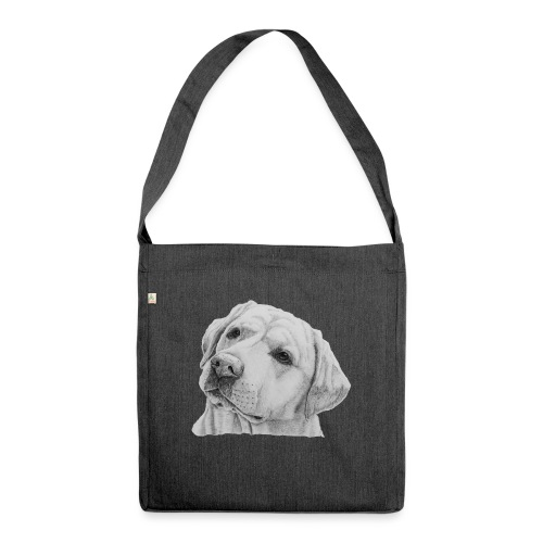 labrador retriever yellow - head - Skuldertaske af recycling-material