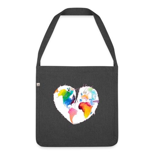 Ich bin als Pfadfinder meines Herzens unterwegs - Schultertasche aus Recycling-Material