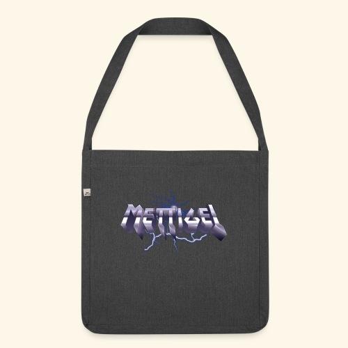 Mettigel T Shirt Design Heavy Metal Schriftzug - Schultertasche aus Recycling-Material