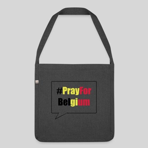 #PrayForBelgium - Sac bandoulière 100 % recyclé