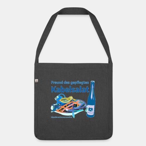 Freund des gepflegten Kabelsalat - Comic - Schultertasche aus Recycling-Material
