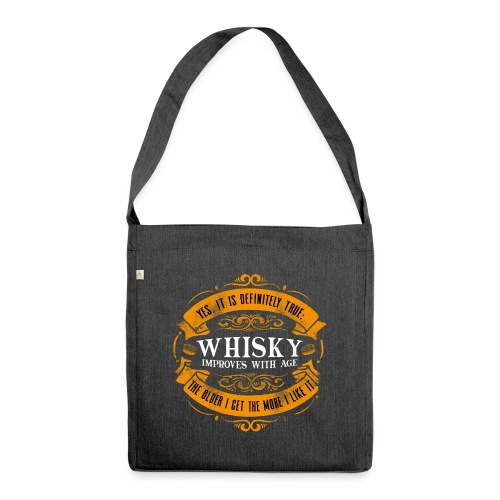 Whisky Improves with Age - Schultertasche aus Recycling-Material