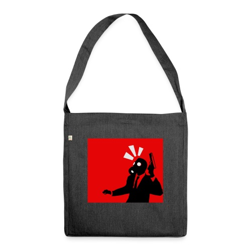Gasmask - Shoulder Bag made from recycled material